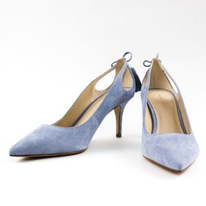 MARC FISHER suede light blue heels, size 9-1/2